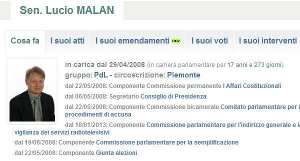 Lucio Malan_elezioni 2013_classifica OpenPolis