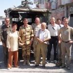 Afghanistan, Settembre 2005. Con la delegazione NATO in visita al Camp Vianini a Herat