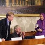 Roma, 2008. Conferenza stampa con la Presidente del Consiglio Nazionale della Resistenza iraniana, Maryam Rajavi