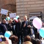 """Roma, Aprile 2013. Manifestazione a favore del """"metodo stamina"""""""
