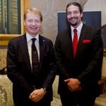 Roma, Aprile 2014. Con Mark Donfried, direttore generale dell'Institute for Cultural Diplomacy, al simposio internazionale sul dialogo interreligioso
