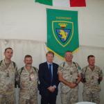 Afghanistan, Settembre 2005. A Herat, con il Capo di Stato Maggiore dell'Esercito, Generale Claudio Graziano