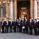 Roma, Maggio 2012. Palazzo Madama. Con una delegazione di giornalisti cinesi