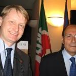 Gubbio, Settembre 2009. Con il Presidente del Senato, Renato Schifani