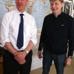 Bruxelles, Luglio 2012. Con David Hobbs, Segretario Generale dell'Assemblea parlamentare NATO