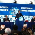 Caserta, Ottobre 2012. Congresso provinciale PDL