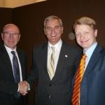 Venezia, Maggio 2008. Parco scientifico Vega. Con l'Ambasciatore degli Stati Uniti, Ronald Spogli, e il direttore Massimo Colomban