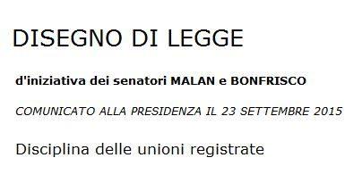 2015_Ddl Malan_Disciplina unioni registrate