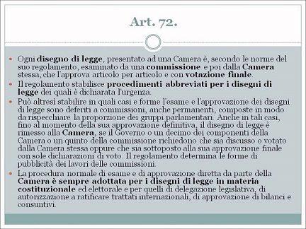 Unioni civili_violazione art 72 Costituzione