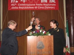 Amb. Stanley Kao e Signora, con il Senatore Malan
