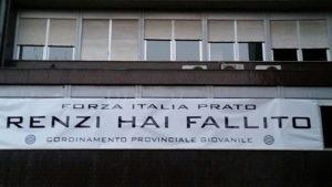 Democrazia_Prato_striscione Forza Italia_1